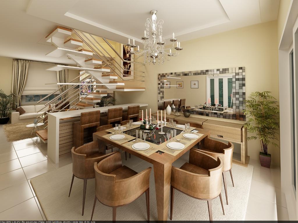 12 modelos para decora o de sala de jantar for Modelos de sala de casa