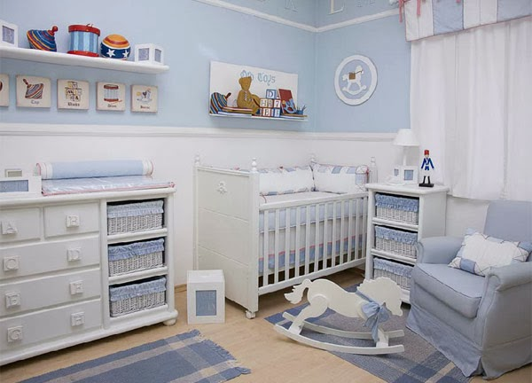 Decora o de quartos de beb masculino simples - Dormitorios de bebe baratos ...