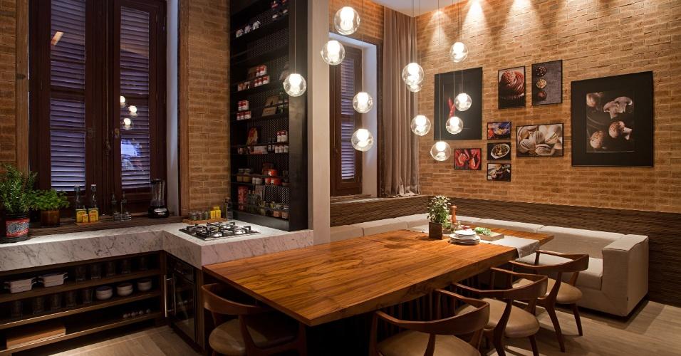 14 modelos de decora o de cozinha r stica for Sala rustica moderna