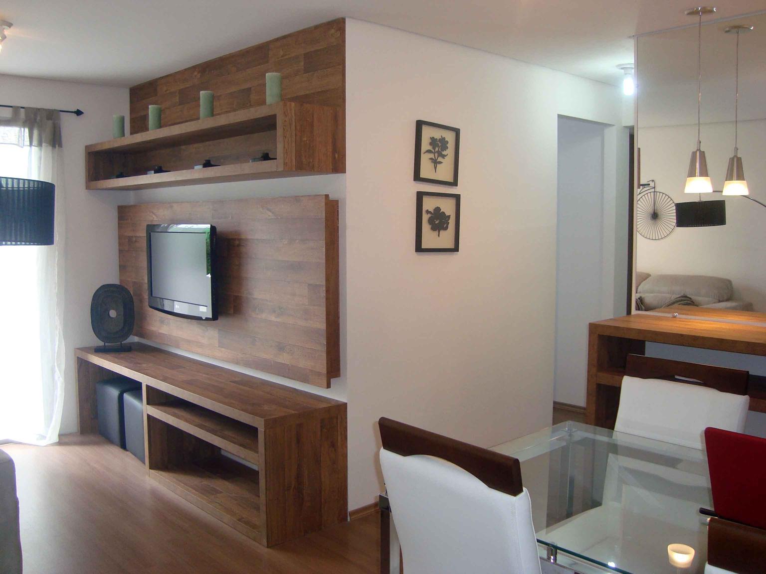Decora o de apartamentos simples for Salas en l pequenas