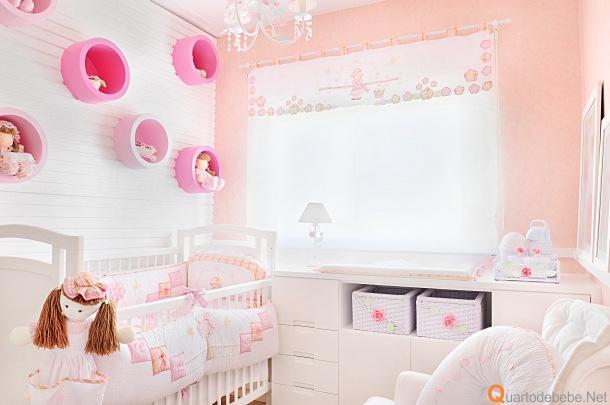 Decora o de quartos de beb feminino simples for Cuartos para ninas simples
