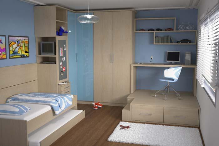 8 Ideias para Decorar um quarto infantil sem gastar muito ~ Quarto Planejado Solteiro Infantil Masculino