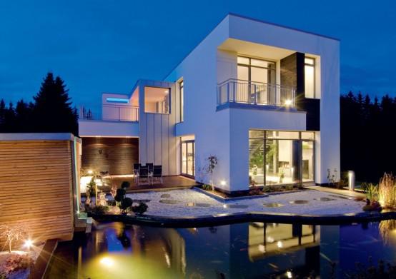 18 modelos de fachadas de casas modernas for Modelos de casas minimalistas modernas
