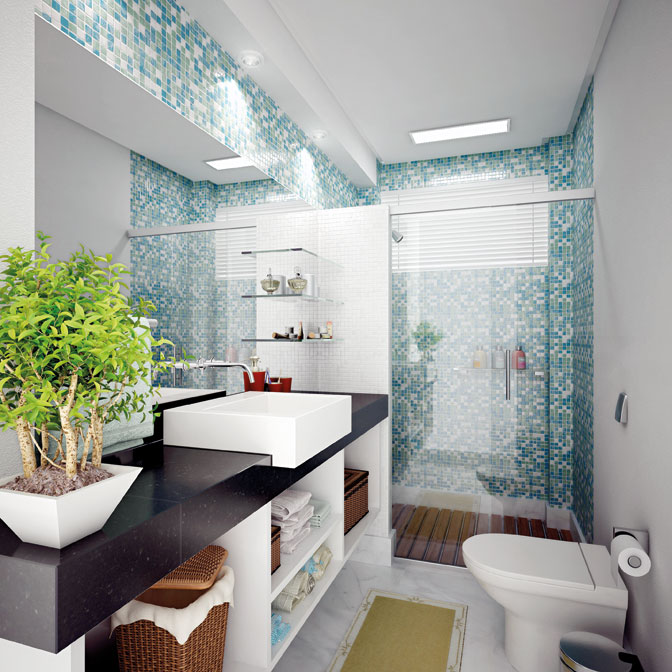 9 Modelos de Banheiros modernos e baratos -> Nicho De Banheiro Barato