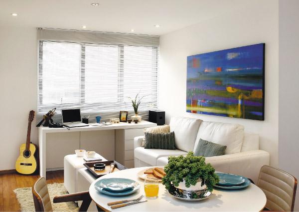 decoracao alternativa apartamentos pequenos:apartamento-pequeno-e-simples-decorado