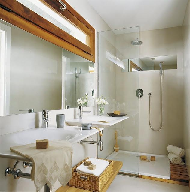 9 Modelos de Banheiros modernos e baratos -> Banheiro Pequeno Zen
