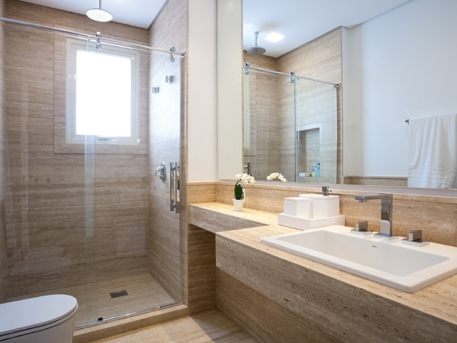 9 Modelos de Banheiros modernos e baratos -> Banheiros Simples E Baratos E Pequenos