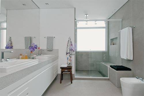 9 Modelos de Banheiros modernos e baratos -> Banheiros Sociais Modernos