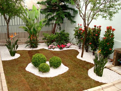jardins ideias criativas : jardins ideias criativas:Pequeno Jardim Frente De Casa