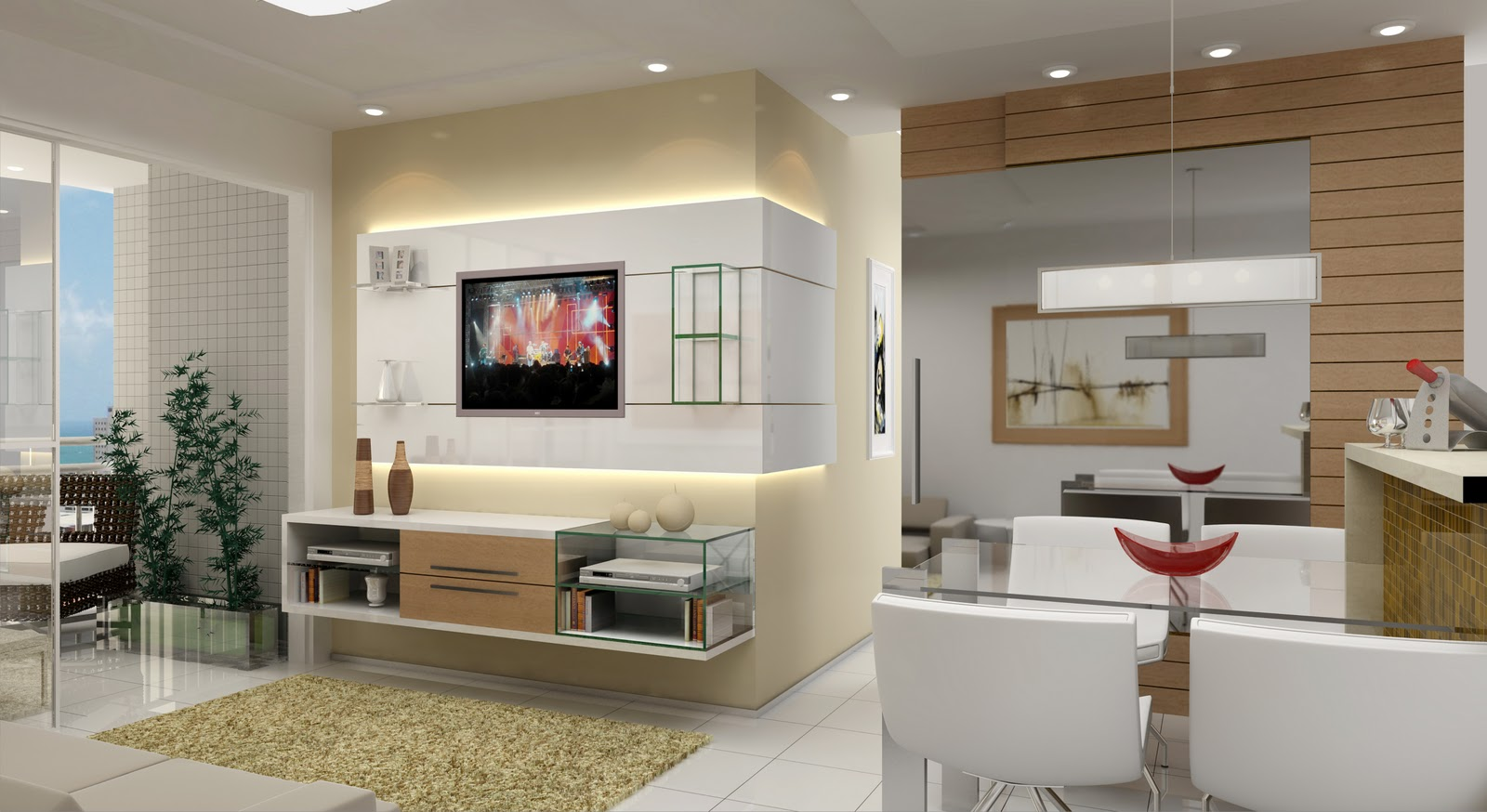 11 Modelos de Casas Decoradas com Gesso #3D6D8E 1600 874