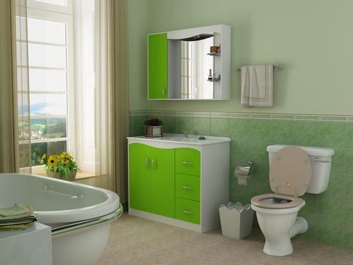 Decoração de Banheiros simples -> Banheiro Simples E Barato
