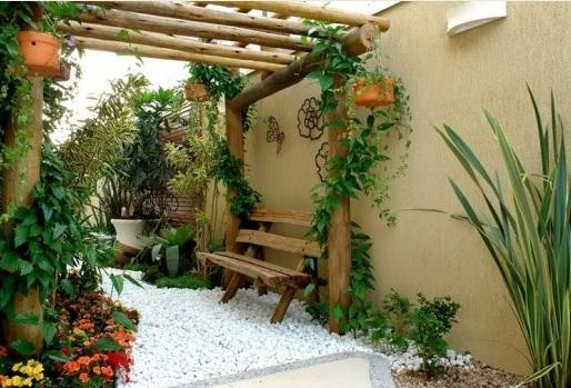 Decora o de jardim externo modelos sugest es for Deco jardines pequenos