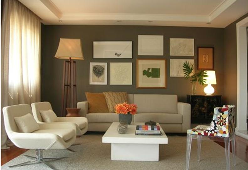 Sugest es de cores para pintar a sala for Opciones para pintar mi casa interior