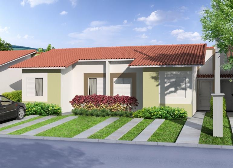 12 modelos de fachadas de casas simples for Casas e jardins simples