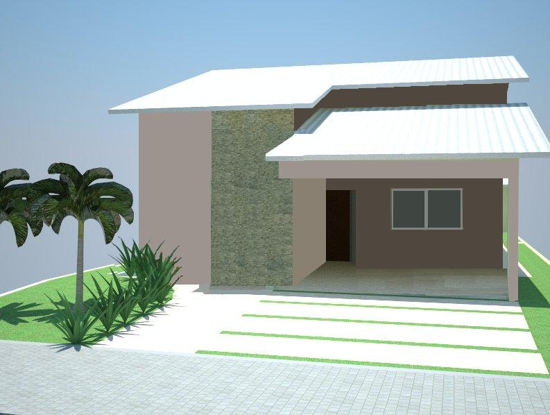 12 modelos de fachadas de casas simples for Casas modernas fachadas bonitas