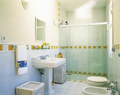 #474376 Decoração de Banheiros simples 400x318 px Decoração De Banheiro Simples E Bonito 3818