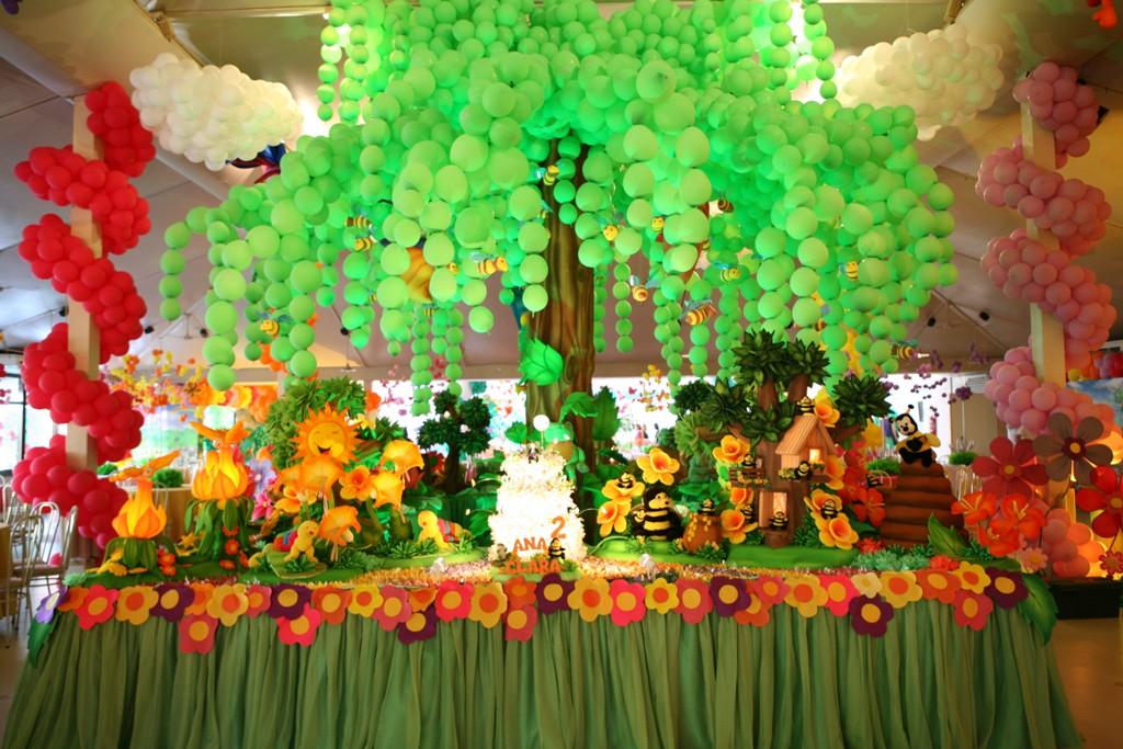 Decoração de festa infantil tema Jardim encantado