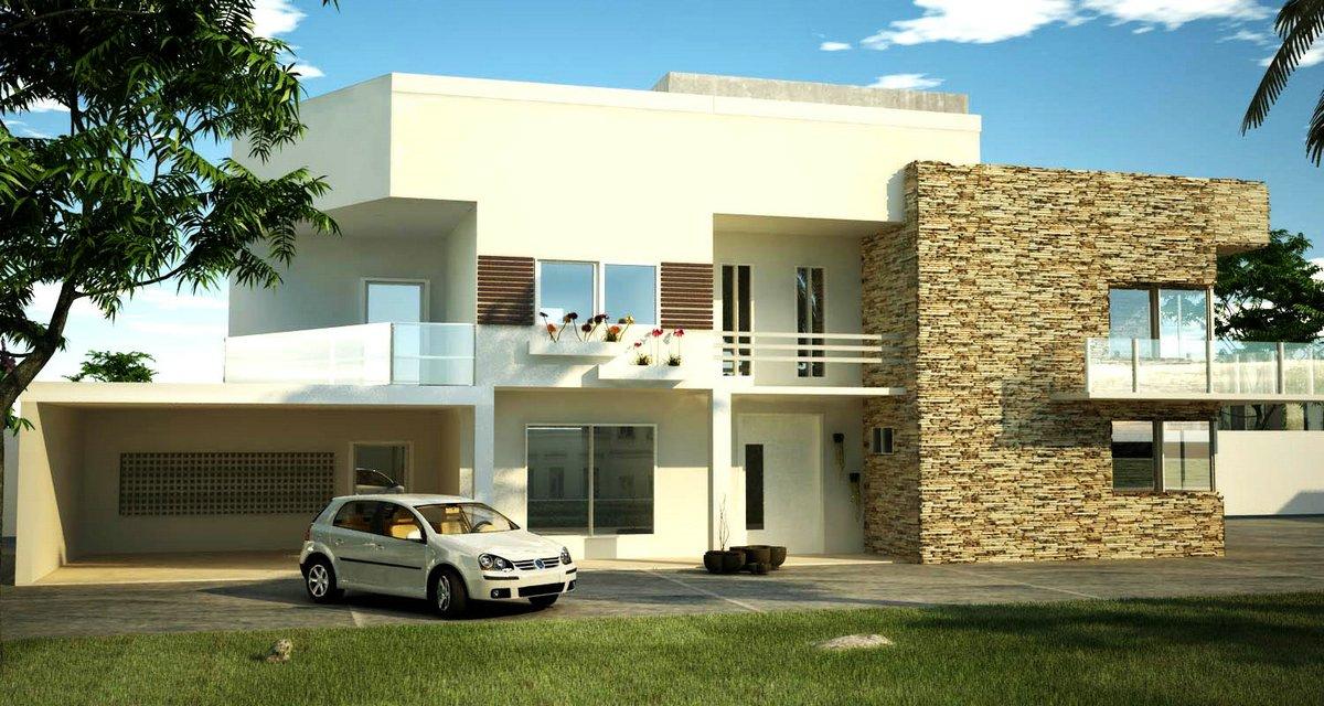 30 modelos de frentes de casas for Modelos de casas medianas