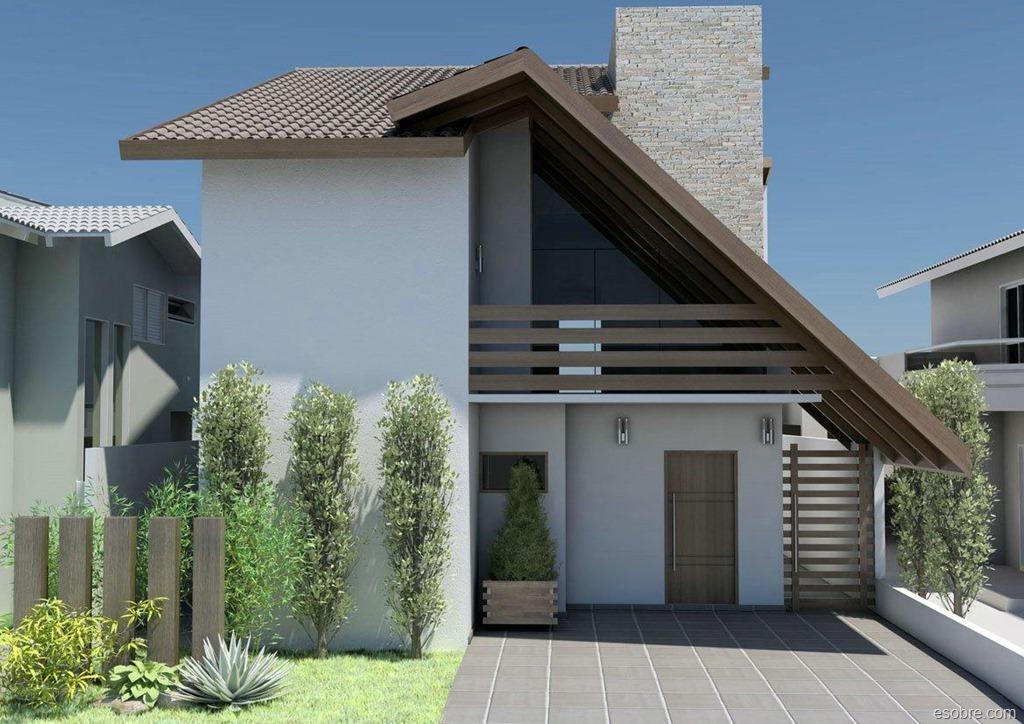 30 modelos de frentes de casas for Fachadas para residencias