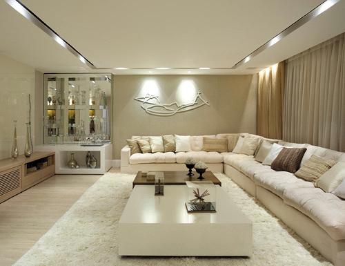 11 modelos de casas decoradas com gesso for Modelos de sala de casa