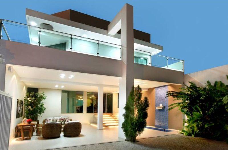 30 modelos de frentes de casas for Modelos de fachadas de casas modernas