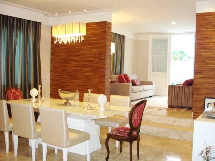 21 modelos de salas de jantar decoradas for Modelos de sala de casa