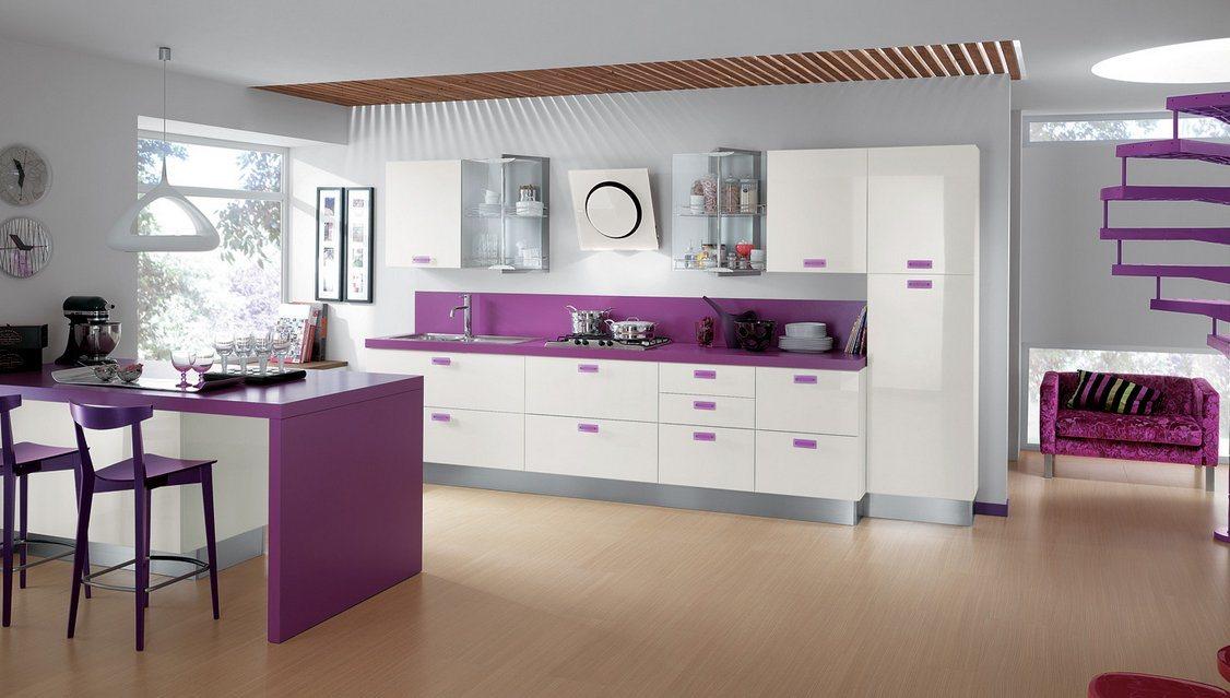 12 fotos de cozinhas coloridas e criativas for Fotos para cocinas modernas