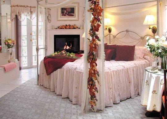 decoracao romantica para quarto de casal