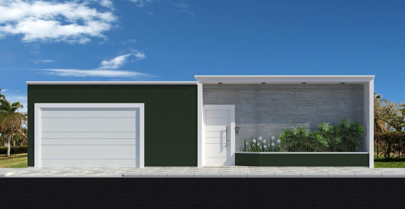 16 modelos de fachadas de casas pequenas e modernas for Casa moderna l