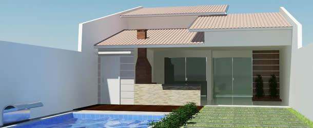 16 modelos de fachadas de casas pequenas e modernas for Casas pequenas de una planta modernas