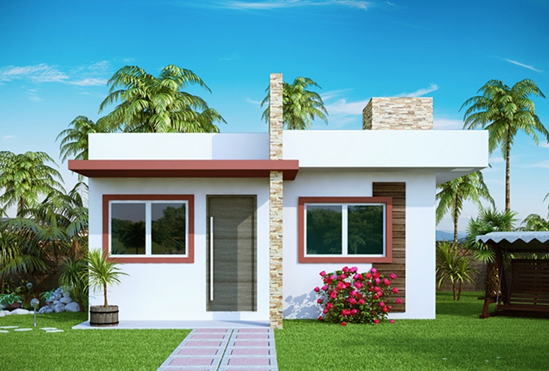 16 modelos de fachadas de casas pequenas e modernas for Casas pequenas modernas