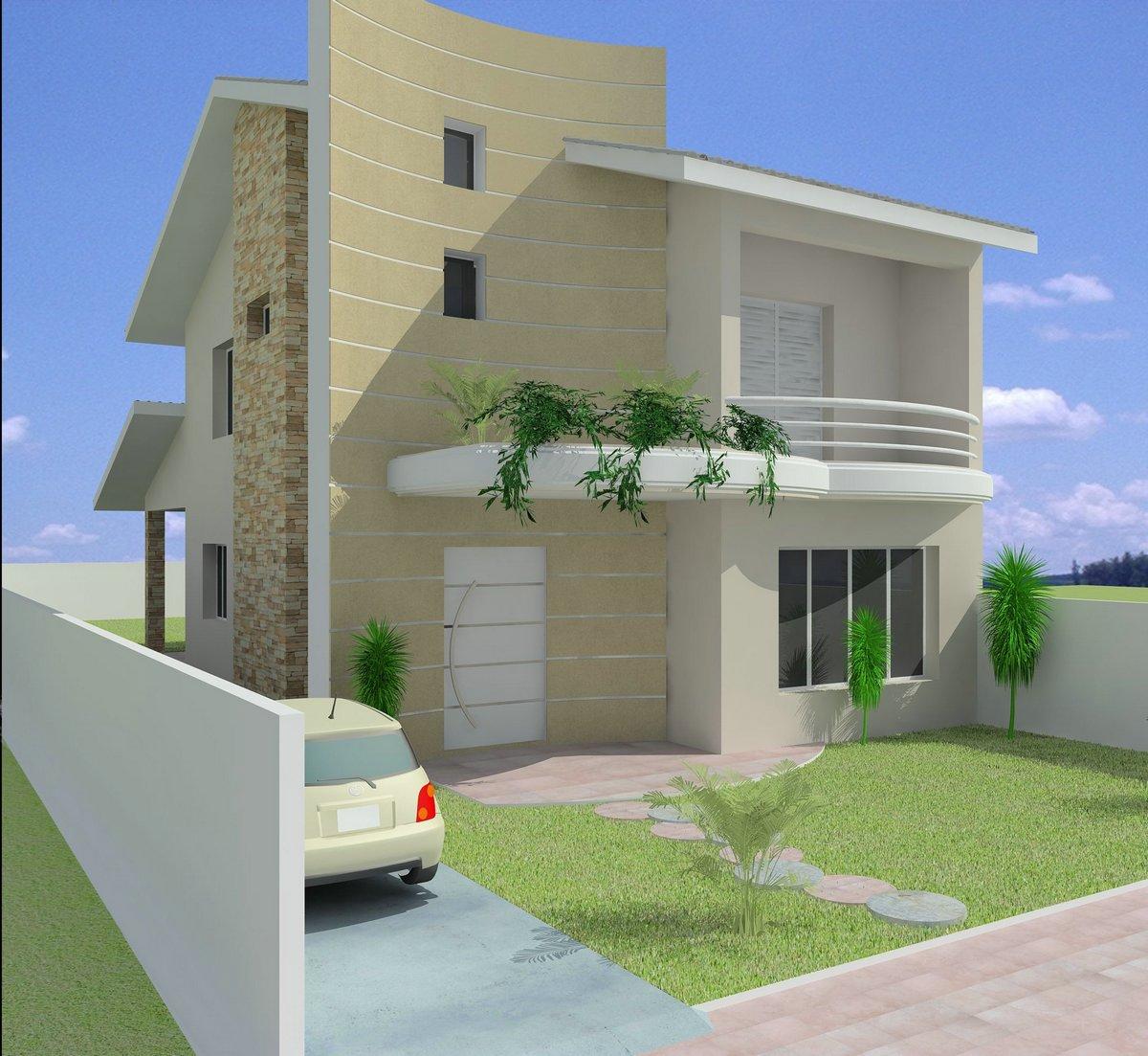 11 modelos de fachadas de sobrados modernos for Modelos de fachadas modernas
