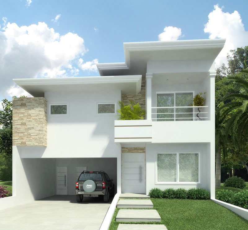 11 modelos de fachadas de sobrados modernos for Modelos de residencias modernas