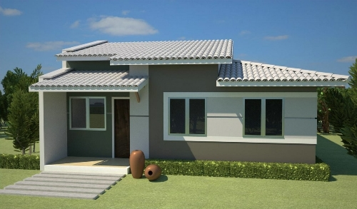 16 modelos de fachadas de casas pequenas e modernas for Fachadas de viviendas pequenas