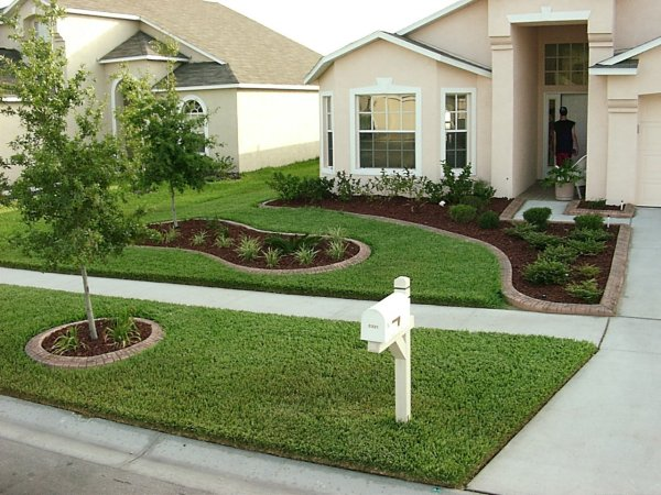 decoracao jardim residencial:Simple Front Yard Landscaping