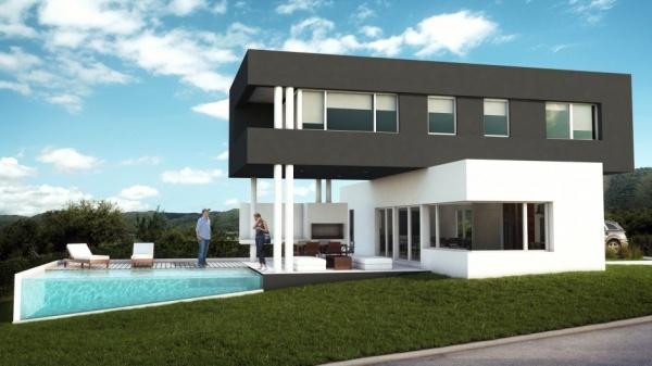 18 fotos de exteriores de casas modernas for Colores para exteriores de casa