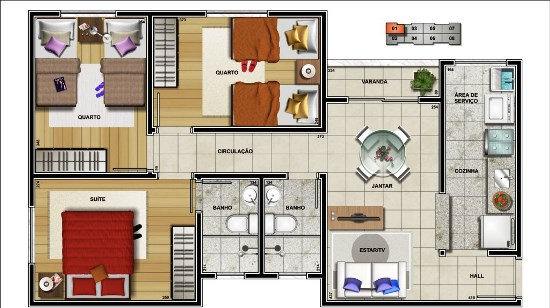 modelos-de-plantas-3-quartos