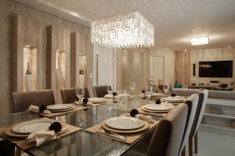 Modelos para Decoração de salas de estar e jantar ~ Imagens De Sala De Estar E Jantar Conjugadas Pequenas