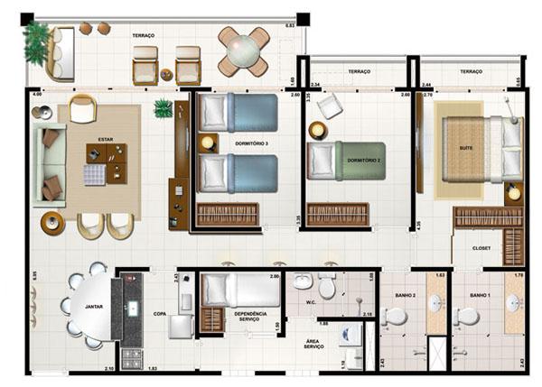 12-modelos-de-plantas-com-3-quartos