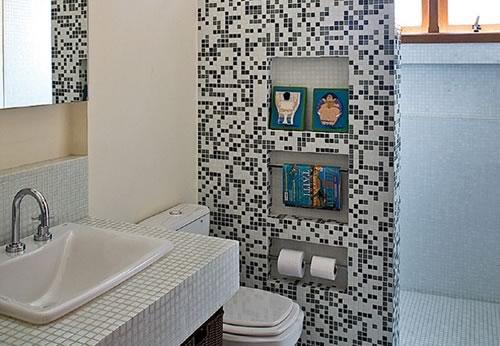 19 Modelos para Decoração de Banheiro social -> Decoracao De Banheiros Sociais