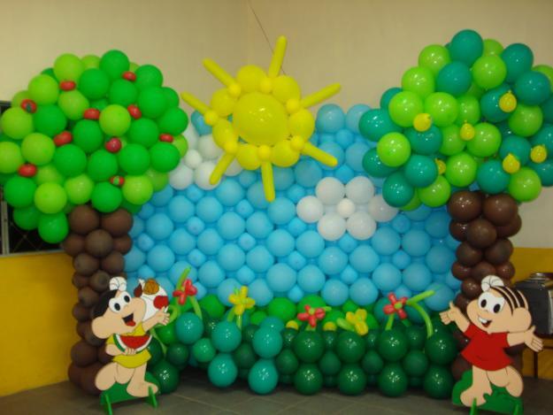 Decoraç u00e3o de Balões para Festa de Aniversário simples