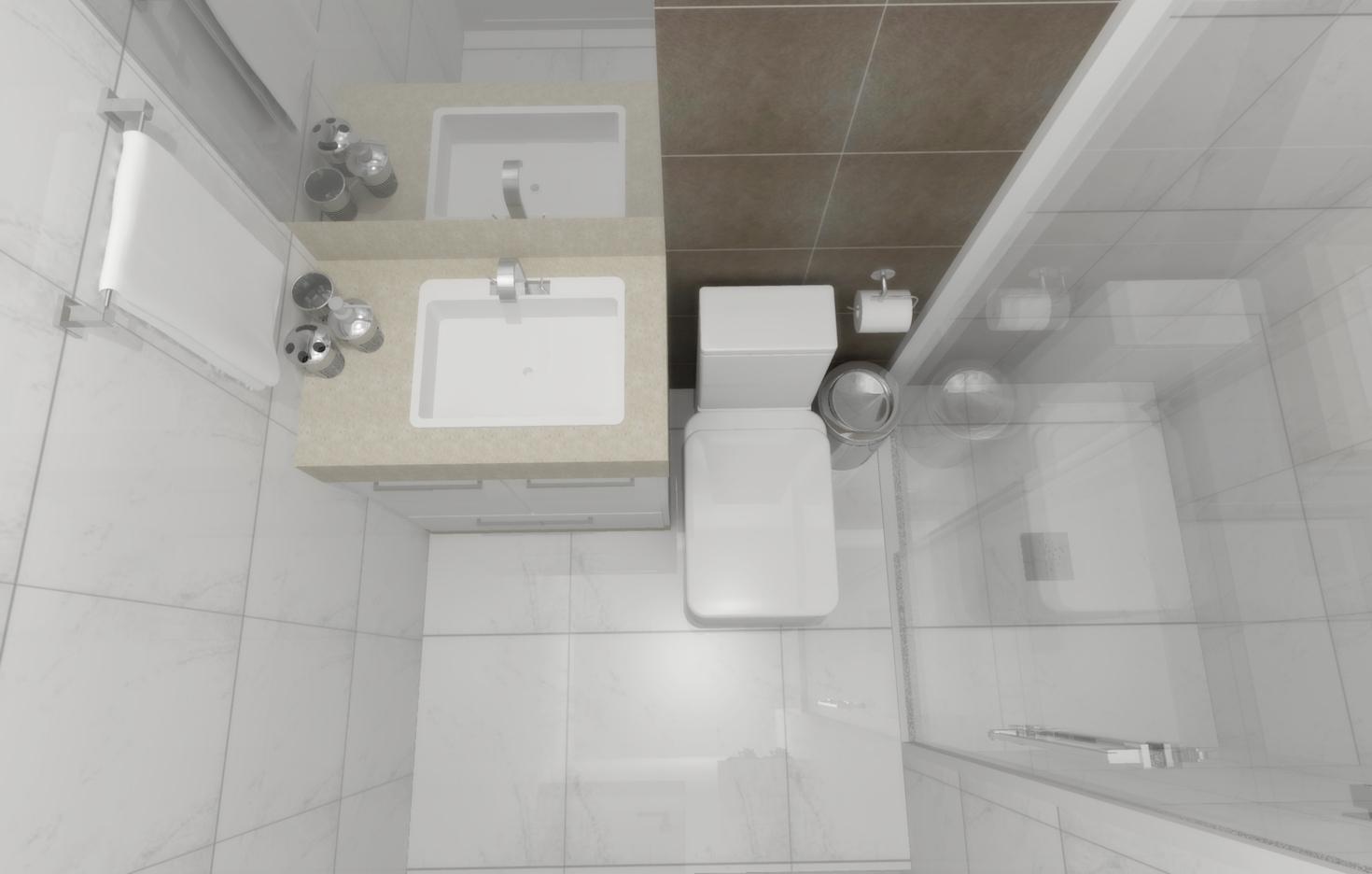 Banheiros Pequenos planejados: Sugestões modelos #595146 1470 936