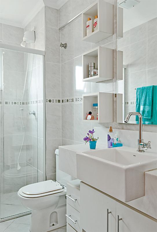 19 Modelos para Decoração de Banheiro social -> Banheiros Apto Pequeno