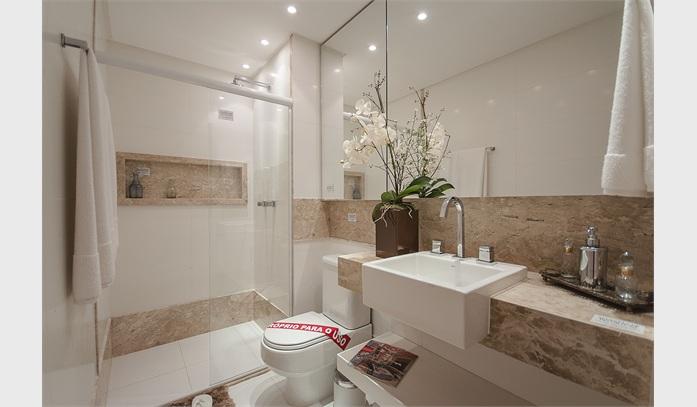 19 Modelos para Decoração de Banheiro social -> Fotos De Banheiro Social Simples