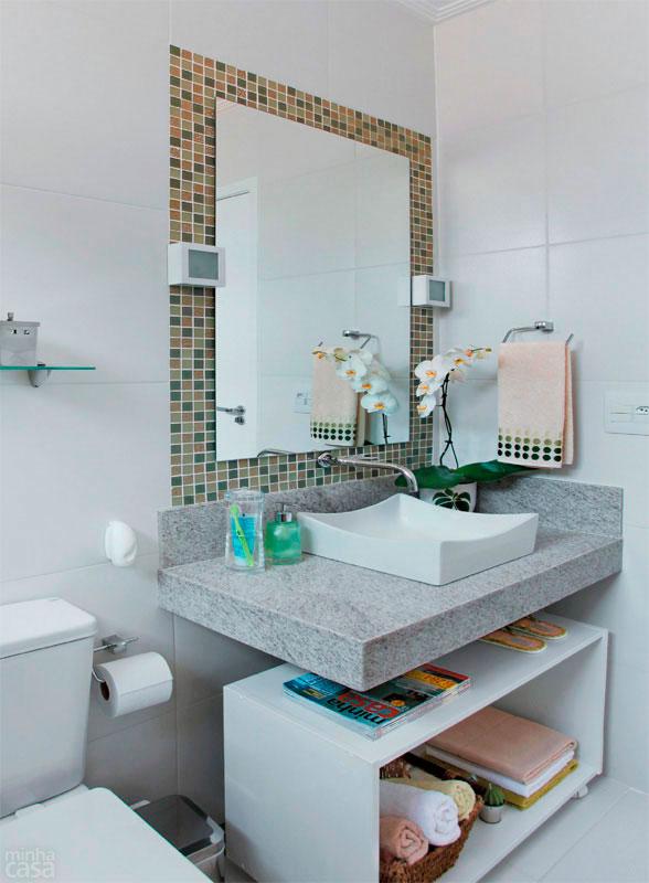 Banheiros Pequenos planejados Sugestões, modelos -> Banheiro Planejado Pia