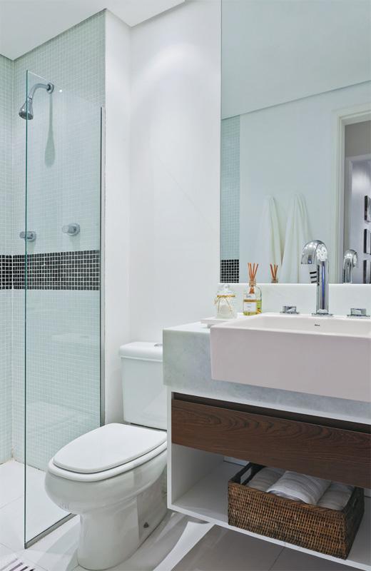 Banheiros Pequenos planejados Sugestões, modelos -> Banheiros Modernos Pastilhados