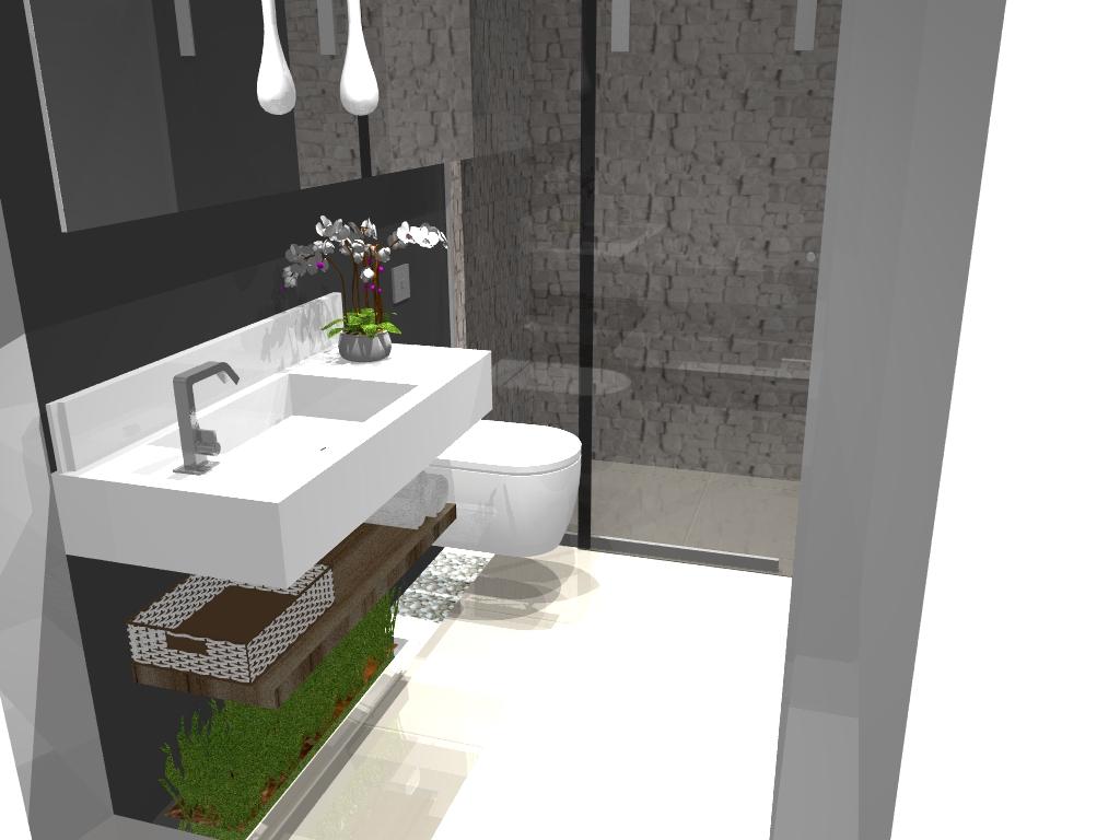 19 Modelos para Decoração de Banheiro social #465B23 1024 768