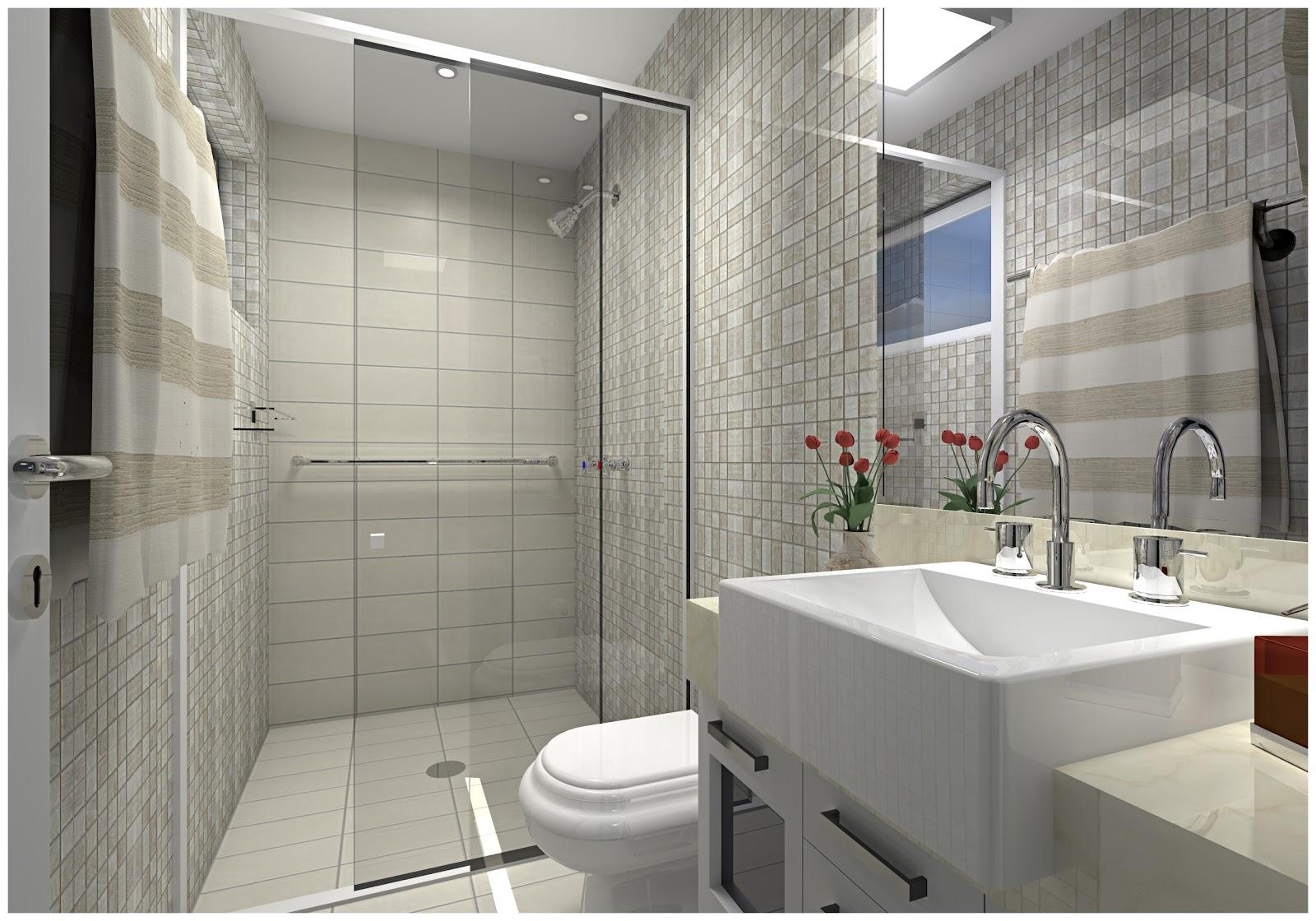 19 Modelos para Decoração de Banheiro social -> Decoracao De Banheiro Com Vaso Cinza
