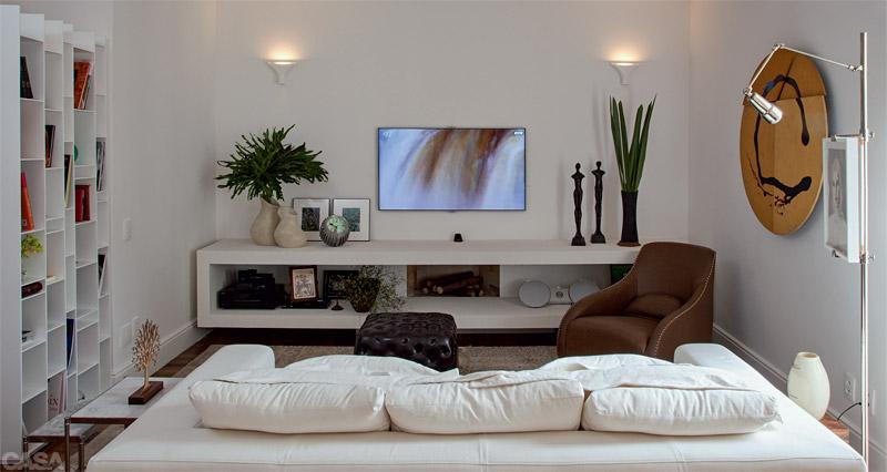 Sala De Tv Simples E Aconchegante ~ Decoração aconchegante para salas de estar – Fotos