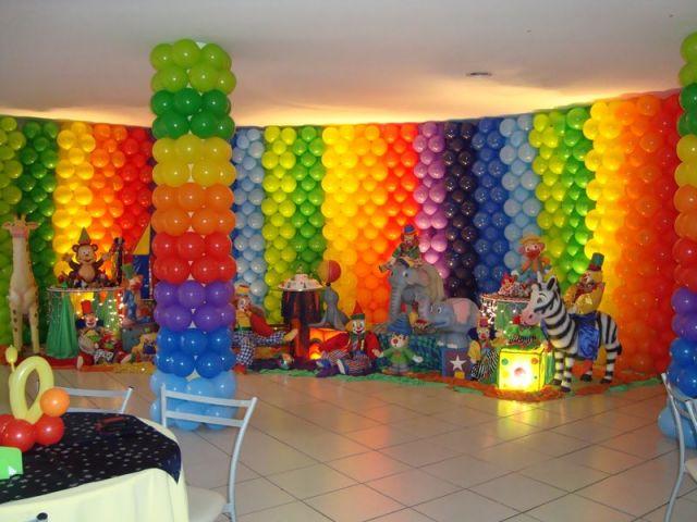 Decoração de Balões para Festa de Aniversário simples